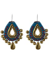 Avarna Enamel Dangle & Drop Earrings for Women (Blue)