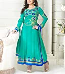 Zarin Khan's Sea Green color Georgette Anarkali suit