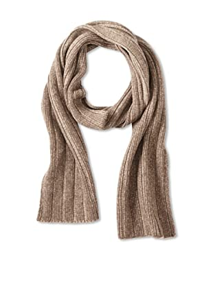 Sofia Cashmere Men's Ribbed Scarf (Brown)
