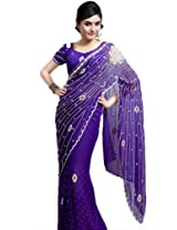 Bharat Plaza Peach Heavy Pallu Saree