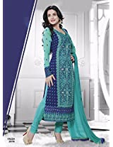 Amisha Patel in New Arrival sky blue Salwar suit