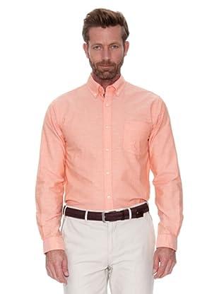 Cortefiel Camisa Oxford Liso Colores (Naranja)