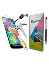 BlueArmor HD Clear Tempered Glass Screen Guard Protector for Samsung Galaxy J2 (Pack of One) + Crystals Solitaire Stylus