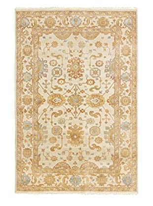 eCarpet Gallery One-of-a-Kind Hand-Knotted Royal Ushak Rug, Cream, 5' 11