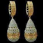 Gold Gold Plated American Diamond Fashion Jhumki Earring