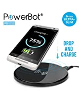 PowerBot® PB1032 Ultra Slim Qi Enabled Wireless Travel Charger Inductive Charging Pad Station for Nexus 4 / 5 / 6 / 7, Nokia Lumia 928 / 920, HTC 8X / Droid DNA / Rzound, Motorola Droid Maxx / Mini, LG D1L / LTE2 / G2 / G3 and All Qi Enabled Devices (Qi receiver not included)