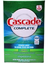 Cascade Complete, Powder Dishwasher Detergent, Fresh Scent 45 Oz (Pack of 3)