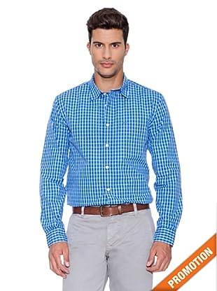Dockers Camisa De Popelin Lavada (Azul Claro / Blanco)