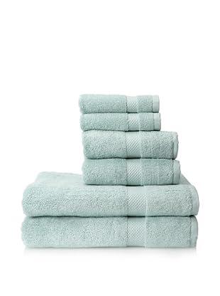 Pure Fiber 6-Piece Organic Cotton Bath Towel Set (Dreamy Blue)