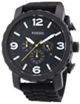 Fossil Nate Analog Chronograph Black Dial Men's Watch - JR1425