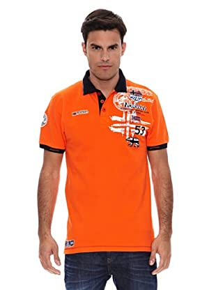 Geographical Norway Polo Manga Corta Karite (Naranja)