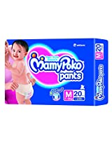 Mamy Poko Pant Style Medium Size Diapers (20 Count)