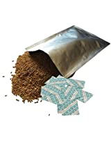 Mylar Bags & Oxygen Absorbers for Dried Food & Long Term Storage by Dry-Packs, 5-Gallon, Pack of 5