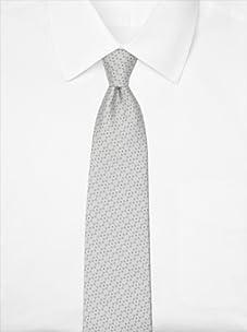 Nina Ricci Men's Dotted Jacquard Tie, Silver/Blue