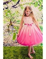 Magic Fairy Girls' Net Dress [MF-322_Fuschia _2-3 Years]