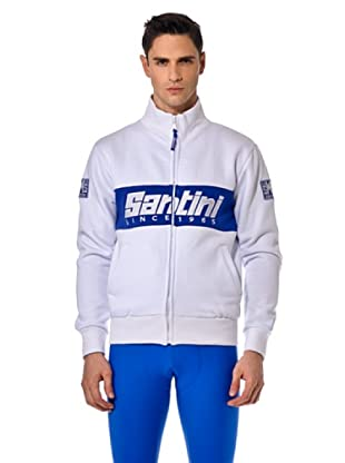 Santini Felpa Zip (Weiß)