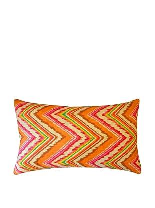 Ice Throw Pillow, Pink/Orange