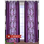 Set of 2 HandloomTrendz Stylish Eyelet Style Door Curtain (H : 7Ft)
