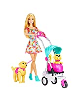 Barbie Strollin Pups Playset