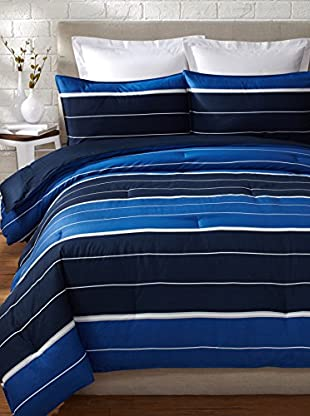 Nautica Danbury Stripe Comforter Set (Navy)