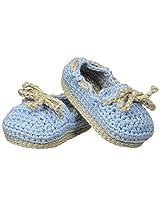 Jefferies Socks Baby Boys' Crochet Bootie, Light Blue, Newborn
