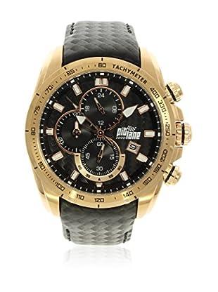 Pit Lane Uhr mit Miyota Uhrwerk Pl-1006-8 schwarz 46 mm
