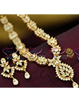 Full White American Diamond Necklace Traditional Indian Jaipur Design Jewellery Online