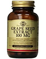 Solgar Grape Seed Extract Vegetable Capsules, 100 mg, 60 Count