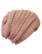 Wrapables Knitted Slouchy Beanie Beret, Pink, Pink