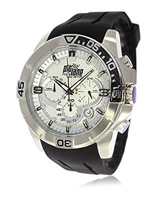 Pit Lane Uhr mit Miyota Uhrwerk Pl-1009-2 schwarz 50 mm