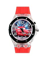 Disney Cars Kids Analog LED Watch - Light Red