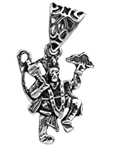 Lord Hanuman Pendant - Sterling Silver