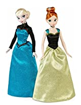 Disney Frozen Coronation Elsa and Anna Classic Dolls 2-Pack