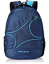 Fastrack Polyester Blue Backpack (AC002NBL02AB)