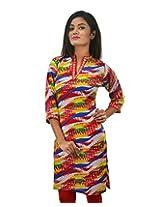 Riiti Designs Women's Cotton Kurti (Multi Colour) (Medium)