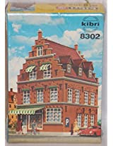 Kibri Ho Scale Train Model Kit Township Building / Corner Store 8302