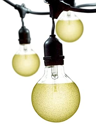 Bulbrite Crystal Collection Amber Ice 15-Light Outdoor String, Crystal Amber