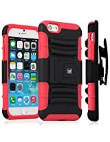 Kayscase ArmorHolster 3 Piece Heavy Duty Kickstand Case with Holster for Apple iPhone 6 4.7 inch - Red