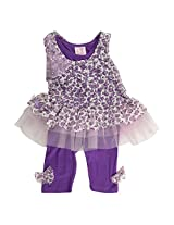 Little Kangaroos Baby-Girls Purple Dress (8903208878245_Purple_6-12 Months)