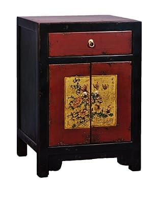 Antique Revival Mongolian-Style Cabinet