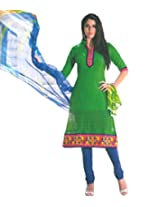 Ali Colours Casual wear Embroidered Cambric Pure Cotton Dress Material For women