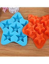 Lovely Star Shape Cake Cube Silicone Chocolate Ice Muffin Mold (random color)