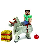 Minecraft Steve with White Horse Action Figure (2-Pack)