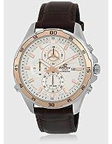 Efr-547L-7Avudf Brown/White Chronograph Watch Casio