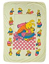 LOVE BABY REGULAR PRINTED TOWEL WITHOUT HOOD 1907 REGULAR TOWEL YELLOW
