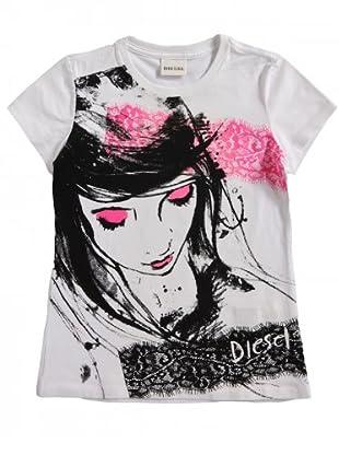 Diesel Kid T-Shirt Trikino (weiß/schwarz/fuchsia)
