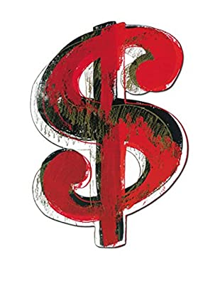 Artopweb Panel Decorativo Warhol Dollar Sign, 1981 Legno