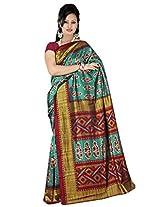 Kothari Printed Saree (KT0107_Green)