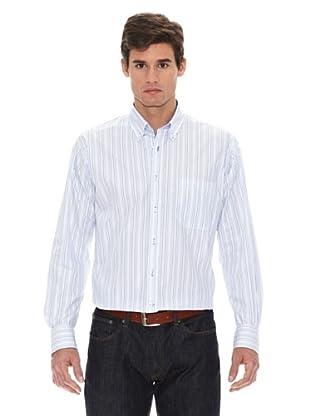 Turrau Camisa Raya Fina (Azul)