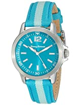 Tommy Bahama RELAX Women's 10018370 Island Breeze (Air) Stainless Steel Watch with Blue Nylon Band